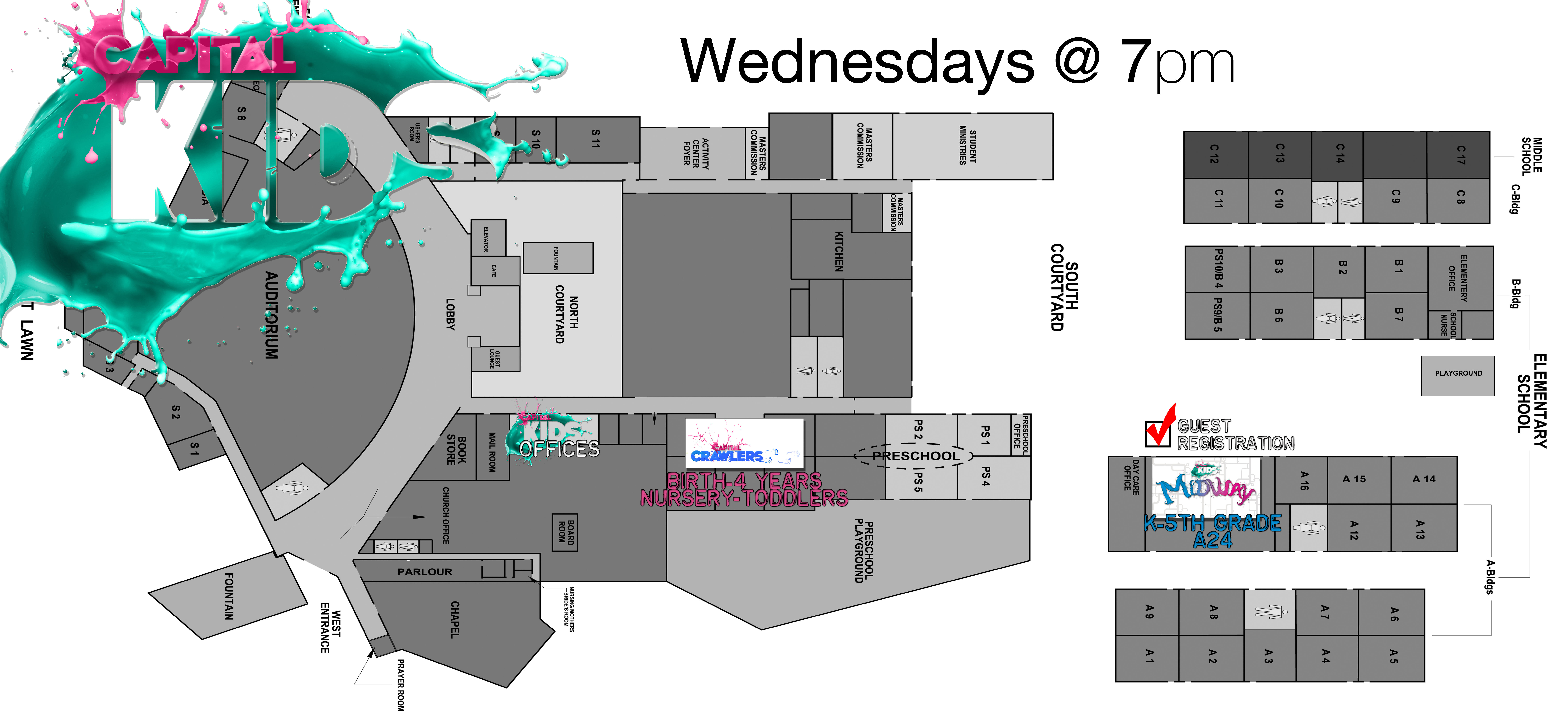 Check in registration capital kids campus map wednesdaysg ccuart Images